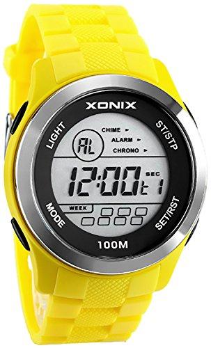XONIX Calypso WR100m Stoppuhr Alarm Timer Licht AVG 4