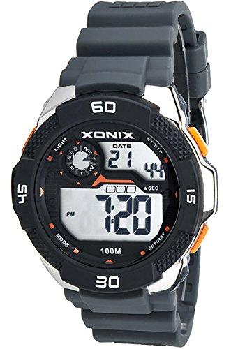 Grosse Herrenarmbanduhr XONIX mit Alarm Timer Stoppuhr Licht Datum wasserdicht bis 100m XDW98J 2
