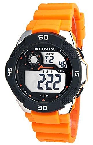 Grosse Herrenarmbanduhr XONIX mit Alarm Timer Stoppuhr Licht Datum wasserdicht bis 100m XDW98J 1