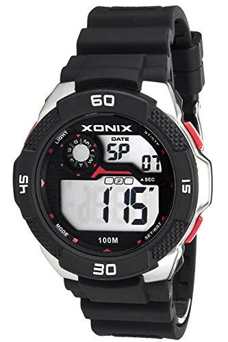 Grosse Herrenarmbanduhr XONIX mit Alarm Timer Stoppuhr Licht Datum wasserdicht bis 100m XDW98J 5