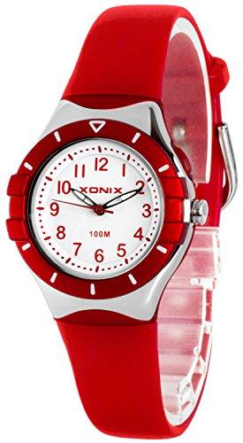 Klassische analoge XONIX Armbanduhr mit Licht nickelfrei wasserdicht bis100m XADZ854 1
