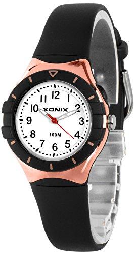 Klassische analoge XONIX Armbanduhr mit Licht nickelfrei wasserdicht bis100m XADZ854 5