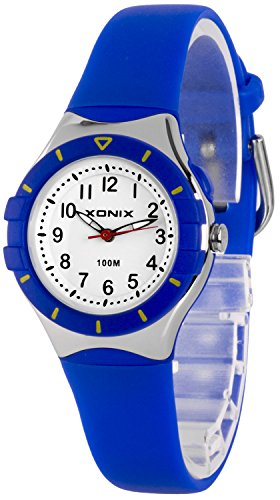 Klassische analoge XONIX Armbanduhr mit Licht nickelfrei wasserdicht bis100m XADZ854 2