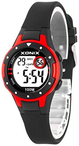 Kleine XONIX Damen Datum Timer Stoppuhr Licht WR100m XD557KJ 7