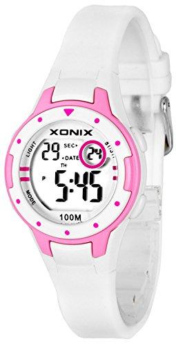 Kleine XONIX Damen Datum Timer Stoppuhr Licht WR100m XD557KJ 1