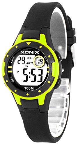 Kleine XONIX Damen Datum Timer Stoppuhr Licht WR100m XD557KJ 6