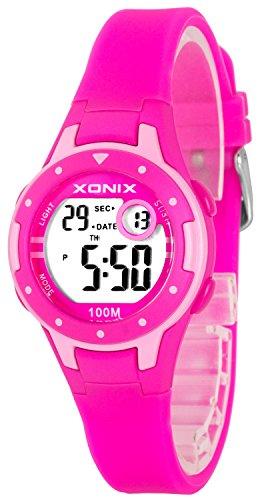 Kleine XONIX Damen Kinder Armbanduhr Datum Timer Stoppuhr Licht WR100m XD557KJ 2