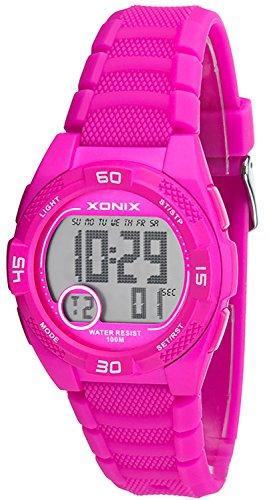 Leichte kleine Armbanduhr XONIX fuer Damen und Kinder wasserdicht bis 100m Alarm Timer Stoppuhr XDQ53K 2