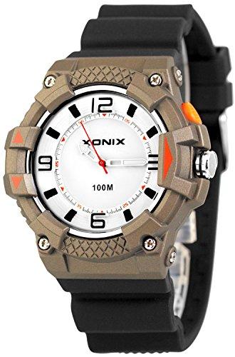 Moderne analoge XONIX Armbanduhr fuer Ihn mit Licht wasserdicht bis 100m XA7NCH21 2