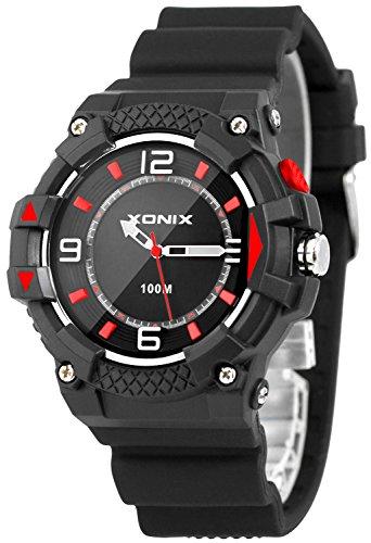 Moderne analoge XONIX Armbanduhr fuer Ihn mit Licht wasserdicht bis 100m XA7NCH21 4