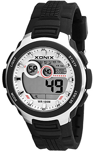 Multifunktions Armbanduhr XONIX fuer Herren und Teenager Timer Alarm Stoppuhr Datum WR100m XDM63J 4