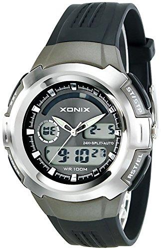 Multifunktions Armbanduhr XONIX fuer Herren und Jungen analog didital WR100m XLD0 1