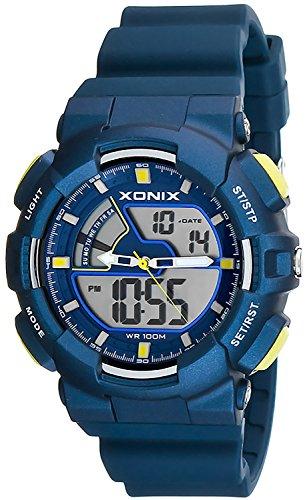 Multifunktions Armbanduhr XONIX fuer Herren und Teenager digital analog WR100m XMVM 4