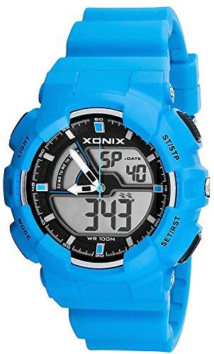 Multifunktions Armbanduhr XONIX fuer Herren und Teenager digital analog WR100m XMVM 2