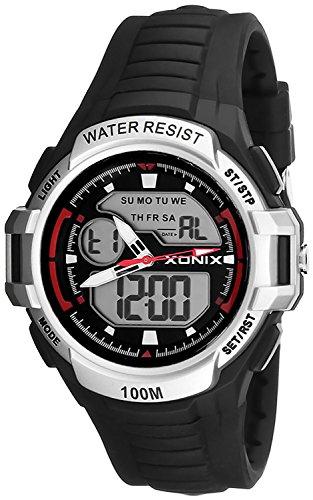 Multifunktions XONIX Armbanduhr fuer Herren und Teenager WR100m XMKM 6