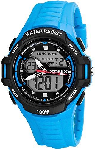 Multifunktions XONIX Armbanduhr fuer Herren und Teenager WR100m XMKM 2