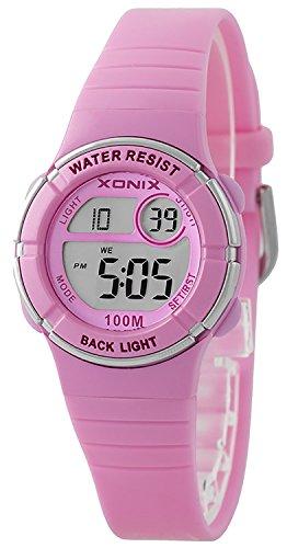 Multifunktions XONIX Armbanduhr fuer Damen Kinder WR100m nickelfrei XDE66K 10