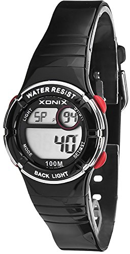 Multifunktions XONIX Armbanduhr fuer Damen Kinder WR100m nickelfrei XDE66K 1