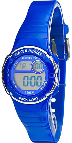 Multifunktions XONIX Armbanduhr fuer Damen Kinder WR100m nickelfrei XDE66K 4