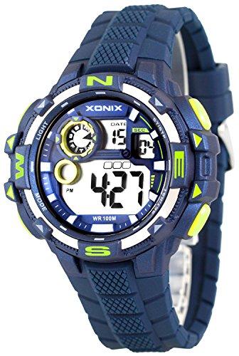 Grosse moderne Multifunktions XONIX Armbanduhr fuer Ihn WR100m nickelfrei XDM11G16 3
