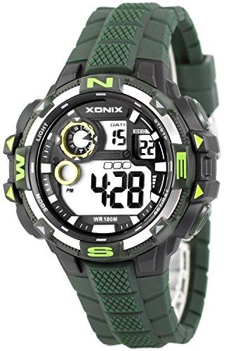 Grosse moderne Multifunktions XONIX Armbanduhr fuer Ihn WR100m nickelfrei XDM11G16 2