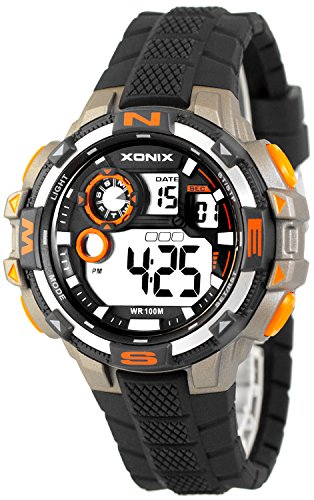 Grosse moderne Multifunktions XONIX Armbanduhr fuer Ihn WR100m nickelfrei XDM11G16 4