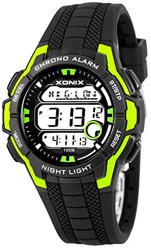 Multifunktions XONIX Armbanduhr mit Weltzeitangabe WR100m fuer Teenager Herren XDLG54M 1