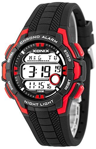 Multifunktions XONIX Armbanduhr mit Weltzeitangabe WR100m fuer Teenager Herren XDLG54M 2