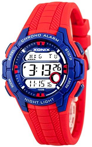 Multifunktions XONIX Armbanduhr mit Weltzeitangabe WR100m fuer Teenager Herren XDLG54M 5