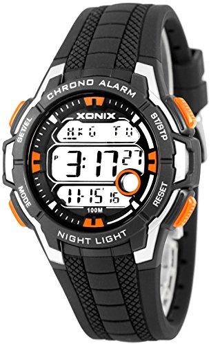 Multifunktions XONIX Armbanduhr mit Weltzeitangabe WR100m fuer Teenager Herren XDLG54M 4