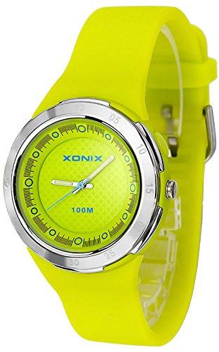 Schicke analoge XONIX Armbanduhr fuer Damen und Maedchen WR100m nickelfrei XAPP 2