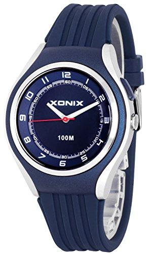 Schlichte XONIX 12h Armbanduhr fuer Herren Teenager mit Licht wasserdicht bis 100m XA846FF 4