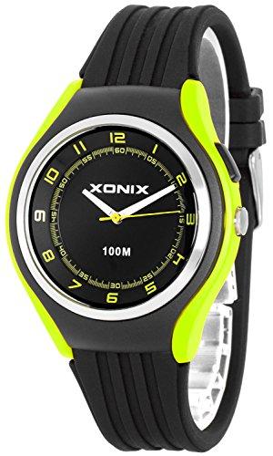 Schlichte XONIX 12h Armbanduhr fuer Herren Teenager mit Licht wasserdicht bis 100m XA846FF 5