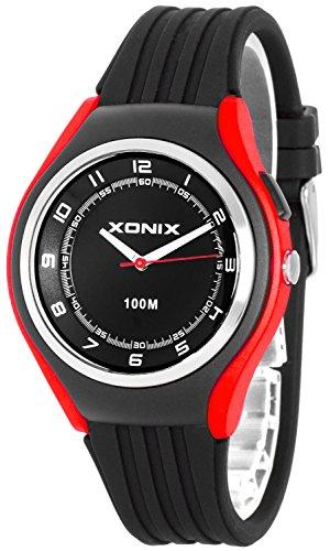 Schlichte XONIX 12h Armbanduhr fuer Herren Teenager mit Licht wasserdicht bis 100m XA846FF 6