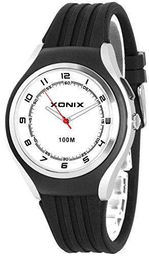 Schlichte XONIX 12h Armbanduhr fuer Herren Teenager mit Licht wasserdicht bis 100m XA846FF 2