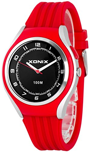 Schlichte XONIX 12h Armbanduhr fuer Herren Teenager mit Licht wasserdicht bis 100m XA846FF 3