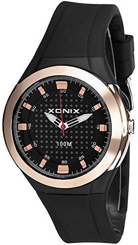 Sportlich Damen XONIX Armbanduhr WR100m mit Hintergrundlicht nickelfrei XAF75U 3