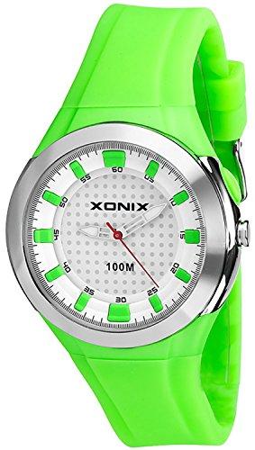 Sportlich Damen XONIX Armbanduhr WR100m mit Hintergrundlicht nickelfrei XAF75U 2
