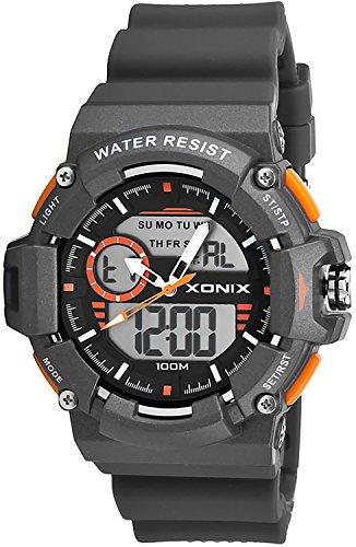 Sportliche Herren XONIX Armbanduhr mit vielen Funktionen WR100m XMX87M 2