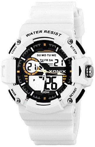 Sportliche Herren XONIX Armbanduhr mit vielen Funktionen WR100m XMX87M 4