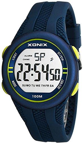 Sportliche unisex Multifunktions Armbanduhr XONIX WR100m Timer Alarm Stoppuhr XFGD1L 1