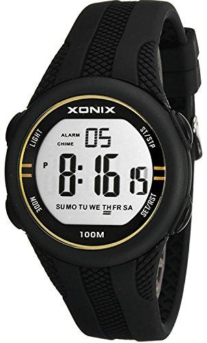 Sportliche unisex Multifunktions Armbanduhr XONIX WR100m Timer Alarm Stoppuhr XFGD1L 2