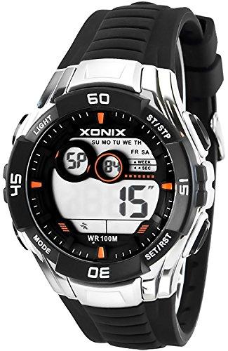 Sportliche Multifunktions XONIX Armbanduhr fuer Herren und Teenager WR100m XKJA 5