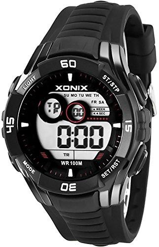Sportliche Multifunktions XONIX Armbanduhr fuer Herren und Teenager WR100m XKJA 6