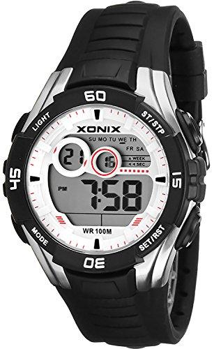 Sportliche Multifunktions XONIX Armbanduhr fuer Herren und Teenager WR100m XKJA 8