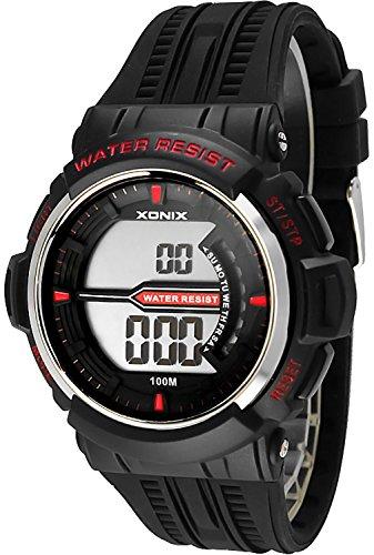Sportliche Herren Teenager XONIX Armbanduhr WR100m Stoppuhr Alarm Lich X0JQ 6