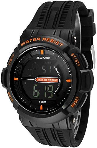 Sportliche Herren Teenager XONIX Armbanduhr WR100m Stoppuhr Alarm Lich X0JQ 7