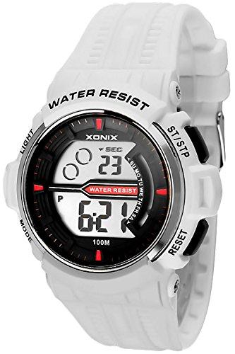 Sportliche Herren Teenager XONIX Armbanduhr WR100m Stoppuhr Alarm Lich X0JQ 5