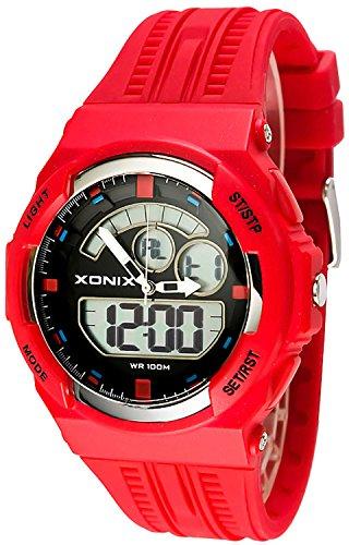 Sportliche XONIX Armbanduhr fuer Herren und Teenager WR100m XMCM 7