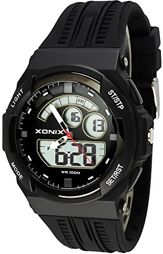 Sportliche XONIX Armbanduhr fuer Herren und Teenager WR100m XMCM 1